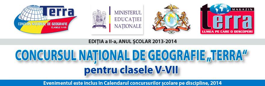 """Concurs National de Geografie """"Terra"""""""